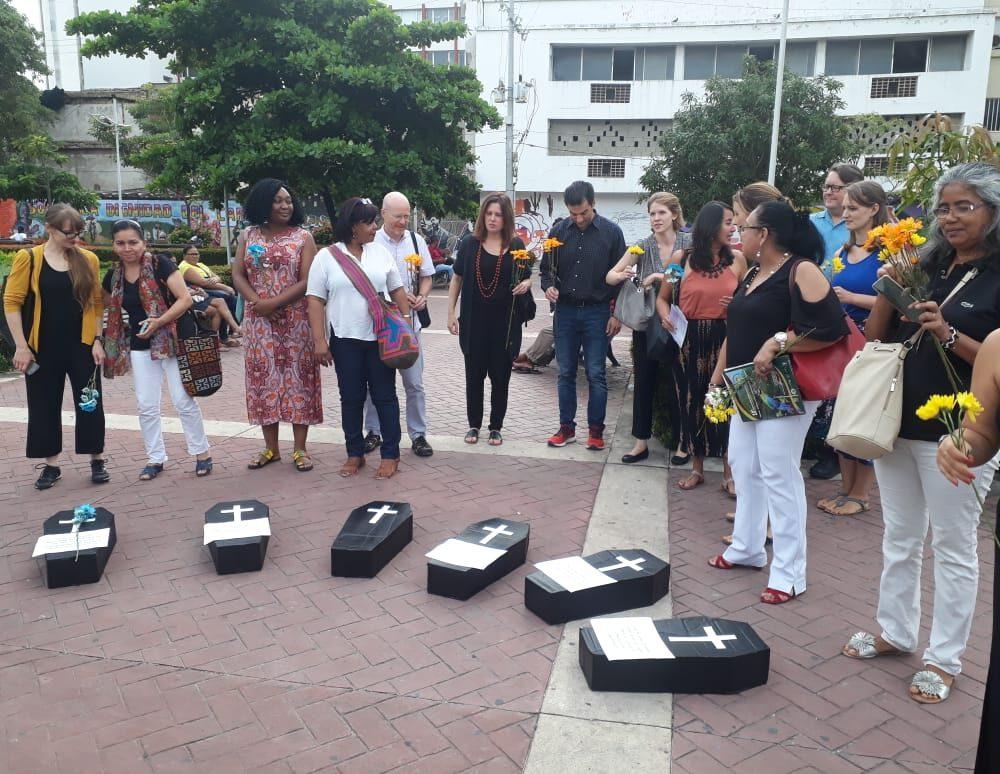 Plantón en Cartagena con la visita de Equal Measures 2030